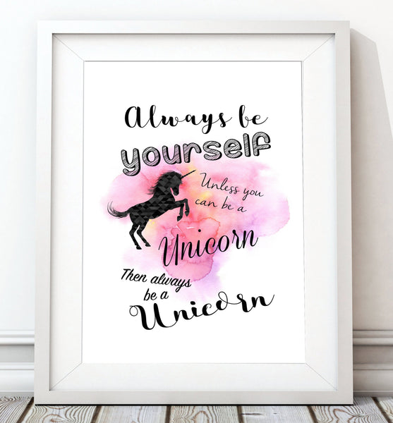 Be A Unicorn Art Print - Rock Salt Prints Inc