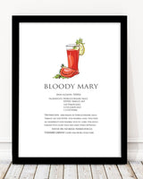 Cocktails / Bloody Mary Art Print - Rock Salt Prints Inc