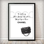 COCO - The Bags Under My Eyes Are Chanel Art Print - Rock Salt Prints Inc