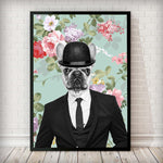 Bulldog Dude - Vintage Art Print - Rock Salt Prints Inc