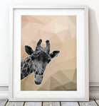 Giraffe Natural 002 Art Print - Rock Salt Prints Inc