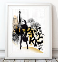 Fashion - Paris Art Print - Rock Salt Prints Inc