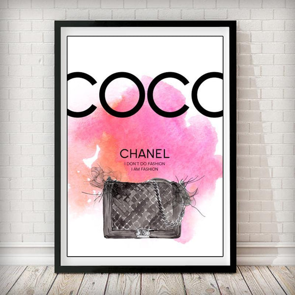 COCO I don't do Fashion - I am Fashion Art Print - Rock Salt Prints Inc