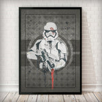 Finn, designation number FN-2187 - Stormtrooper Art Print Regular price - Rock Salt Prints Inc