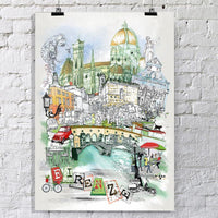 Firenze Retro City Print - Rock Salt Prints Inc