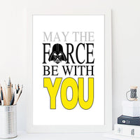 May the Force Be with You  Nursery Art Print - Rock Salt Prints Inc