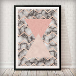 Triangles Abstract - Blush Pink Art Print - Rock Salt Prints Inc