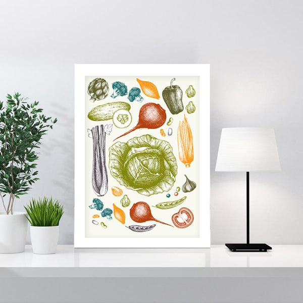 Vegetables Art Print - Rock Salt Prints Inc