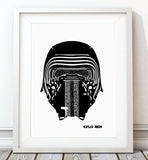 Star Wars Classic Collection - Kylo Ren Print - Rock Salt Prints Inc
