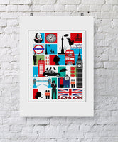 London Mosaic City Print - Rock Salt Prints Inc