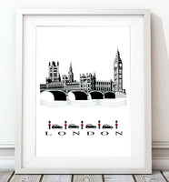 London Classic City Print - Rock Salt Prints Inc