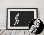 Moonwalker Stormtrooper Landscape - Star Wars Inspired Art Print - Rock Salt Prints Inc