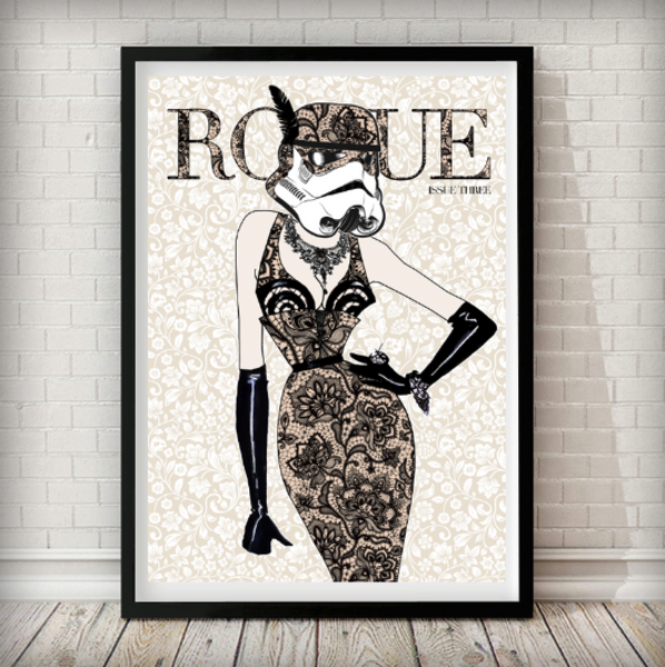 Moulin Rogue Three - Stormtrooper Art Print - Rock Salt Prints Inc