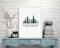 New York Classic City Print - Rock Salt Prints Inc