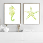 Starfish - Sea Life Nursery Art Print - Rock Salt Prints Inc