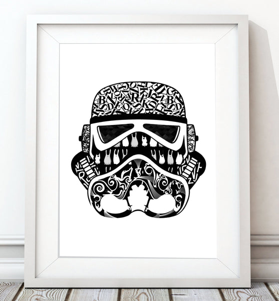 Star Wars Classic Collection - Stormtrooper Print - Rock Salt Prints Inc