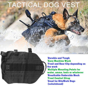 german shepherd tactical harness police working dog