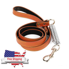 Conditioning Spring Pulling Leash Leather Spring Absorber
