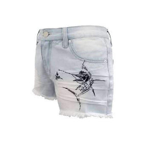 Light Wash Country Cut-Off Shorts