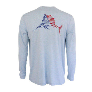 50 UV American Sailfish Premium Performance Fishing Shirt