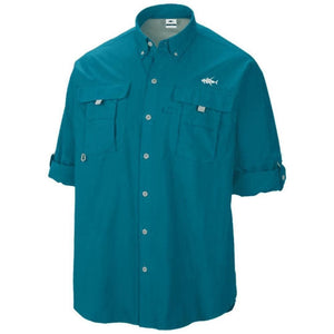 50 UV Azure PFG Button Down