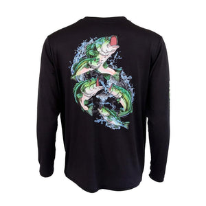 50 UV Bass Frenzy Performance Fishing Shirt