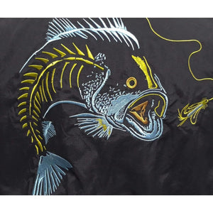 50 UV Embroidered Button Down Large Mouth Bass Fishing Shirt
