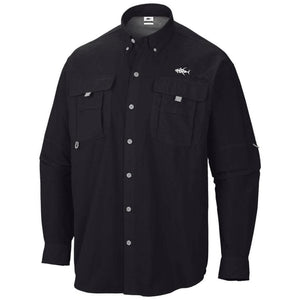 Bass PFG UPF Button Down Long Sleeve Embroidered - Apparel by Home Run
