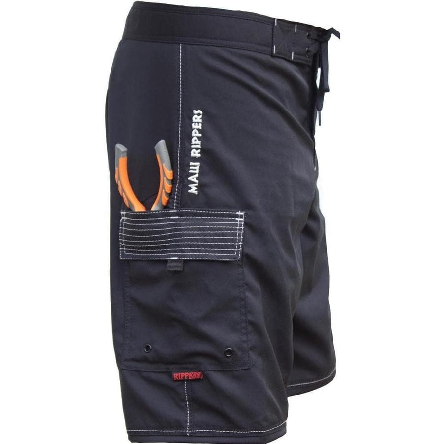BLACK MAUI RIPPERS SURF & FISH BOARD SHORTS