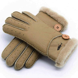 Fur Lined Winter Gloves