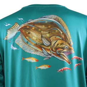 50 UV Flounder Performance Fishing Shirt