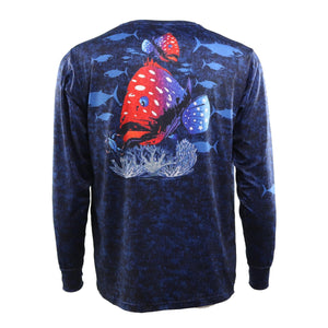 50 UV American Grouper Performance Fishing Shirt