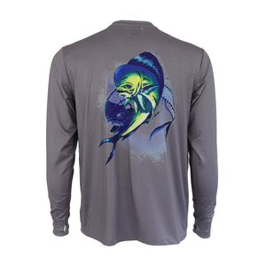 50 UV Mahi Skeleton Performance Fishing Shirt