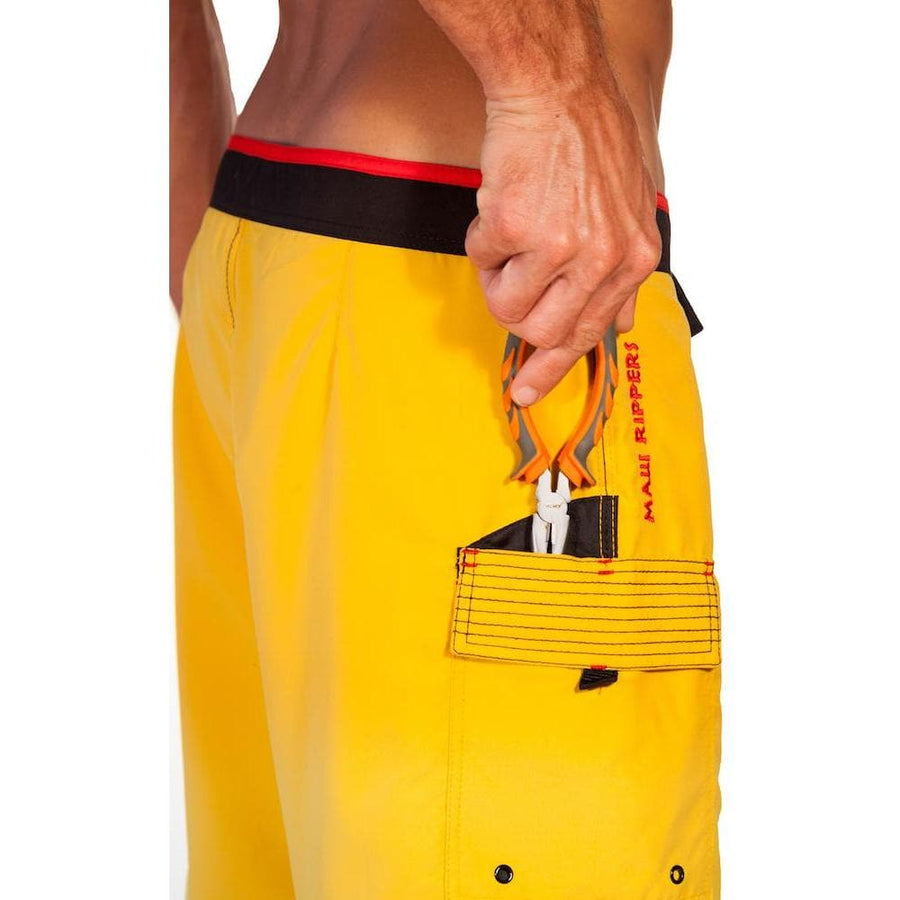 7a272ad6a0a0 YELLOW MAUI RIPPERS SURF   FISH BOARD SHORTS ...