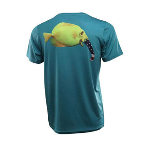 Youth Patriot Elephant Fish Short Sleeve Performance Shirt