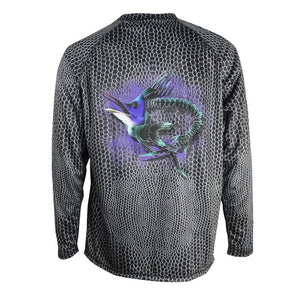 50 UV Predator Marlin Scale Performance Fishing Shirt