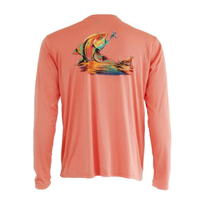 50 UV Redfish Vapor Solar Performance Fishing Shirt