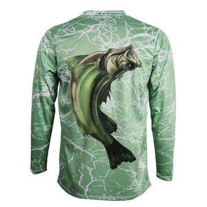 50 UV Reel Big Bass Performance Fishing Shirt