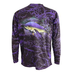 50 UV Reel Big Yellowfin Tuna Performance Fishing Shirt