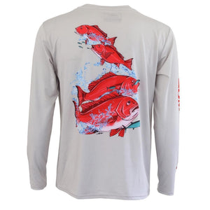 50 UV Snapper Season Performance Fishing Shirt