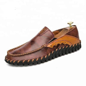 Dark Brown Men's Leather Casual Shoes