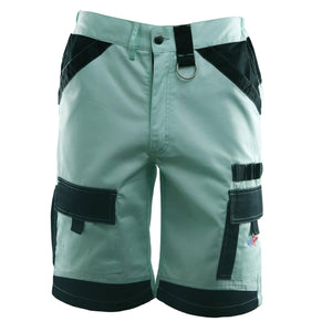 seafoam green island beverage pocket shorts, home run logo on bottom left pocket.