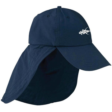Navy Sun and Sand Cape Hat - Apparel by Home Run