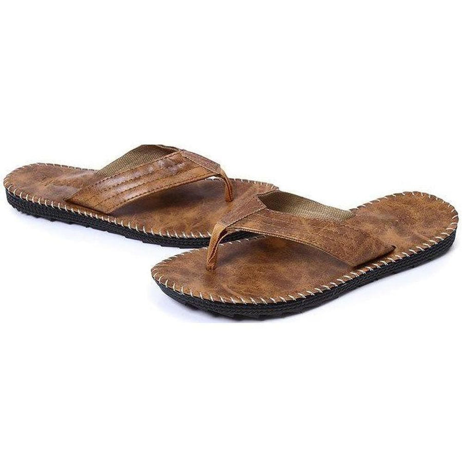 Boat Dock leather flip flops - Apparel by Home Run