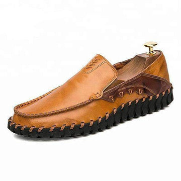 LIGHT BROWN MENS LEATHER CASUAL SHOES