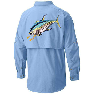 50 UV EMBROIDERED BUTTON DOWN TUNA FISHING SHIRT