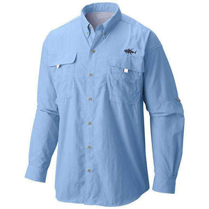 Men's 50 UV Embroidered Button Down Tuna Fishing Shirt