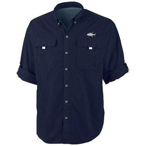 50 UV Embroidered Button Down Wahoo Fishing Shirt