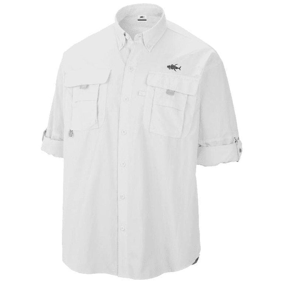 50 UV WHITE PFG BUTTON DOWN