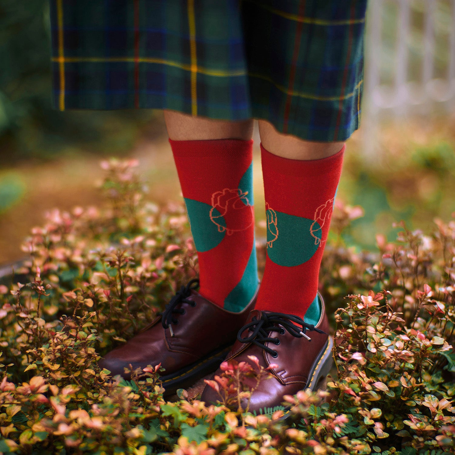 Three Legged Pair - Red Socks